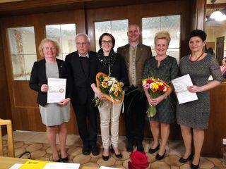 Silvia Nagl, Wolfgang Koschat, Petra Rauch, Viktor Wurzinger, Maria Prutsch und Ingeborg Scheucher (v.l.).