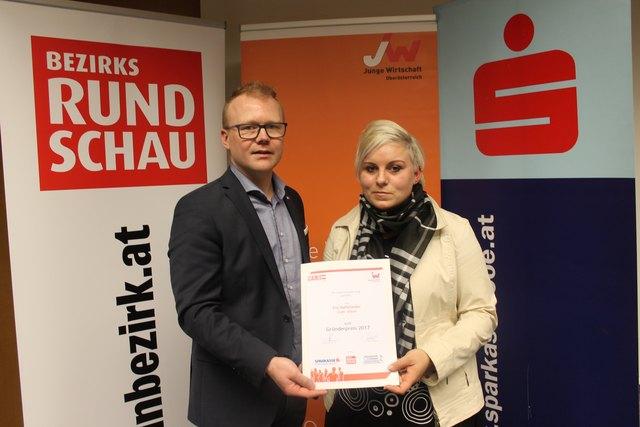 Markus Brandstetter (Junge Wirtschaft) und Eva Raffetseder