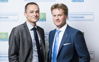 Fordern einen 5-Maßnahmenkatalog zur Stärkung und Sicherung der steirischen Wirtschaft: IV-Geschäftsführer Gernot Pagger sowie IV-Präsident Georg Knill