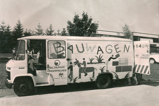 Der Spielbus vor 40 Jahren.