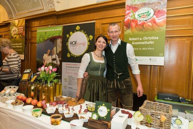 Preisverleihung in Graz: Christina und Robert Grammelhofer