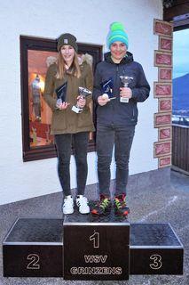 Laura Kofler und Simon Holzknecht holten sich die Ski-Vereinsmeistertitel in den Schülerklassen.
