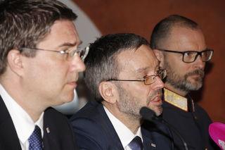 Bürgermeister Rabl, Innenminister Kickl und Landespolizeidirektor Pilsl präsentierten gemeinsam die neuen Pläne.