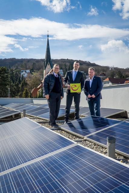 Roman Pernitz, VzBgm. Energieeffizienzstadtrat Roland Honeder und UGR Leopold Spitzbart