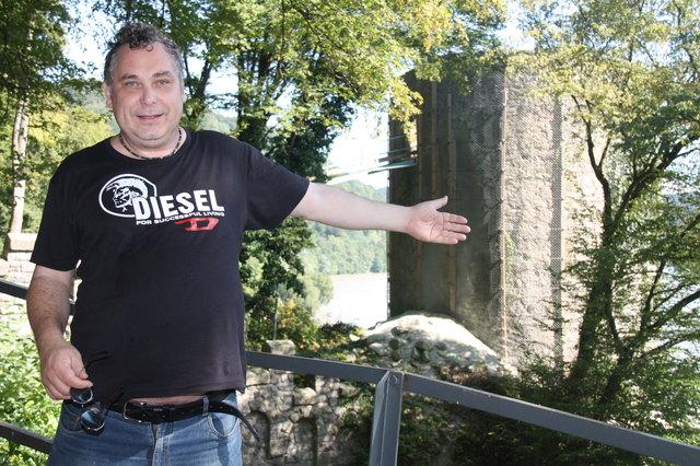 Karl Hohensinner kämpfte gegen die Sprengung des Turms in Sarmingstein.