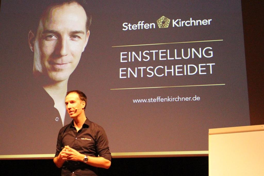 Motivator Steffen Kirchner sprach von seiner Zeit als erfolgreicher Volleyballtrainer.