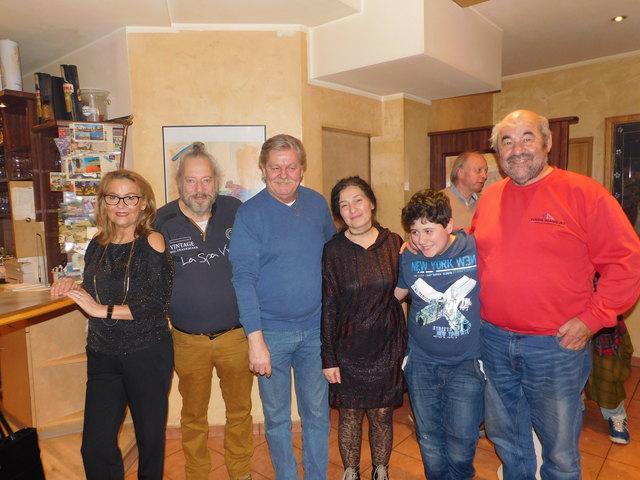 Helga Cech, Thomas Mikel, Franz Plesnik, Reyhan und Julian Mikel, Gernot Koreschnig und Jonny Marold