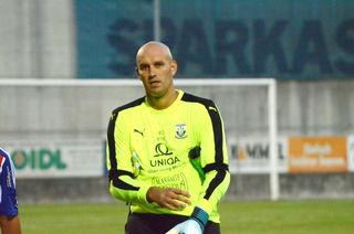 Pöllau Keeper Miljkovoc hielt sein Kasten rein.