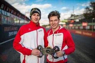 Florian Janits (li) & Jakob Schober als Fahrerpaarung.