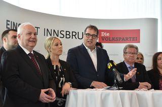 Das Spitzentrio: StR Franz Gruber, Unternehmerin Mariella Lutz und StR Andreas Wanker (li.) führen die Liste an.