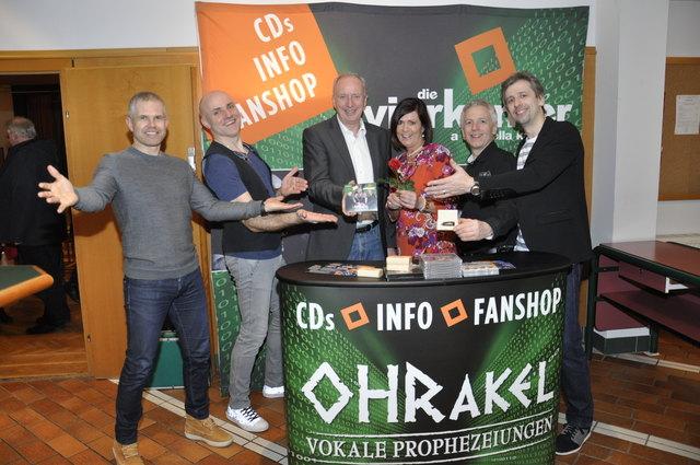 Auch Bürgermeister Gerhard Hauser feierte mit