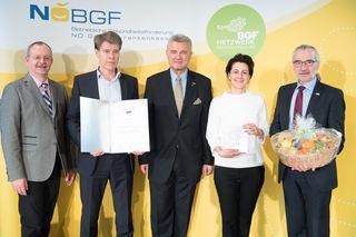 Klaus Ropin (FGÖ), Thomas Schlechta, 1. Obmann-Stv.  Norbert Fidler (NÖGKK, WKONÖ), Birgit Noiges, 2. Obmann-Stv. Michael Pap (NÖGKK)