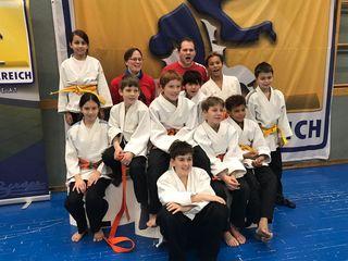 Nachwuchskader des Judo-Club Stockerau