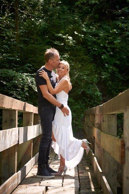 Gernot Waldner und seine Frau Doris Golatka bei ihrer Hochzeit im August 2017
