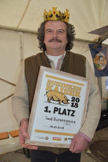 Dritter Sieg (fast) zum Geburtstag: WOCHE Schinkenkaiser 2018 Josef Bleiberschnig