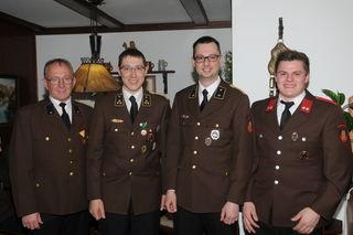 Franz Linner, Lukas Gruber, Christian Schönberger und Thomas Stummer (v. l.).