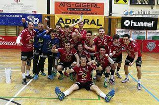Nach dem 27:21-Sieg über Tirol gab es bei der HSG Remus Bärnbach/Köflach Grund zum Feiern.