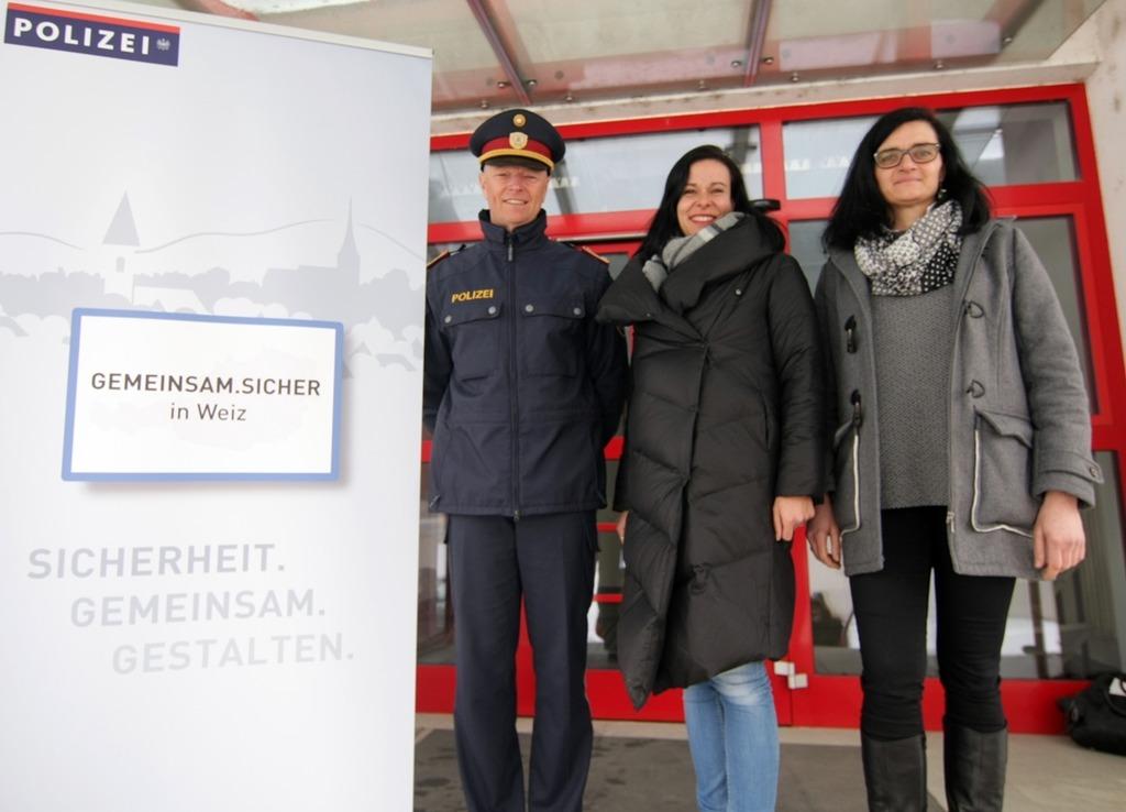V.l.: Harald Eppich, Annemarie Siegl, Marion Egger