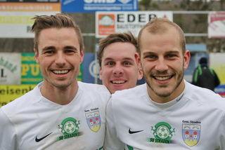 Freuen sich auf den Saisonauftakt: Der wieder genesene Dejan Benkic, Kapitän Gernot Ranftl und Tadej Flisar (vl) von Straden.