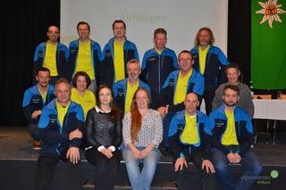 Der Vorstand der Sektion Feldbach des Österreichischen Alpenvereins in seiner Zusammensetzung nach den Wahlen.