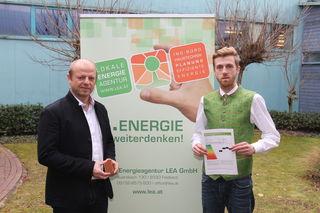 Die Energieberatungsstelle rund um LEA-Geschäftsführer Karl Puchas (l.) und Markus Nestelberger berichten über die adaptierte Förderung.