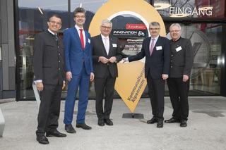 LA Alois Margreiter (VP), Stefan Graf (Direktor Bayerischer Gemeindetag), Alfred Riedl (Präsident Österreichischer Gemeindebund), Hermann Lindner und NR Hermann Gahr (VP, Forum Land).