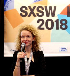 Patricia Stark beim SXSW in Austin, Texas.