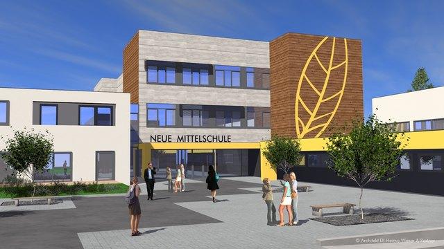 So wird die NMS Seckau nach dem Umbau aussehen. Foto: Architekt Wieser