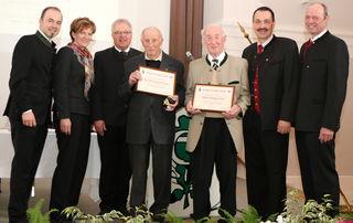 Mitglieder für 60-jährige treue Mitgliedschaft beim Tiroler Land- und Forstarbeiterbund.