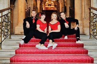 v.l.n.r: Markus Kakuska, Jessica Kaiser, Elsa Köck, Andreas Aigner
