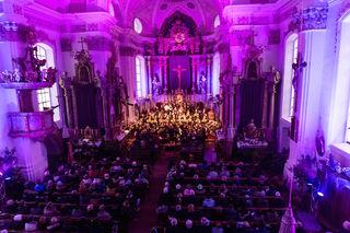 In der Pfarrkirche St. Johann herrschte eine einzigartige Stimmung beim Kirchenkonzert der MK St. Johann.