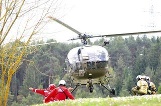 Die Ausbildung stellt eine wichtige Maßnahme bei Einsätzen mit Hubschrauberbeteiligung dar.