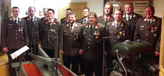 Das Bezirkskommando mit den beförderten Funktionären des Abschnitts Pillersee.