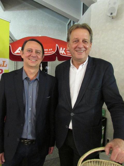 Setzen sich für die Arbeitnehmer ein: Geschäftsstellenleiter Peter Comina und Erwin Zangerl von der AK.
