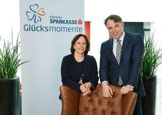 Die beiden Vorstände der Kärntner Sparkasse: Gabriele Semmelrock-Werzer und Siegfried Huber