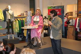 Florian Hubmann hieß Claudia Rossbacher willkommen