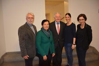Vorstandsteam (von links): Alfred Pittertschatscher, Gabriele Lackner-Strauss, Josef Pühringer, Elisabeth Manhal und Doris Staudinger.