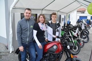 Andrea und Stefan Kolano präsentierten mit Claudio Piribauer die neuen Marken.