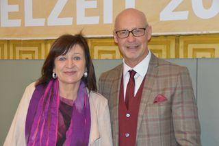 Kulturlandesrätin Beate Palfrader und Intendant Johannes Reitmeier
