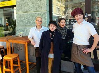 Sylke Schneider, David Bennent, Anne Bennent und Ludwig Schneider