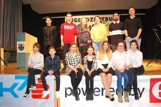Die Teilnehmerinnen und Teilnehmer des Redewettbewerb