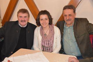 Reinhard Prutej, WOCHE Salamiprinzessin Manuela Golautschnik, Charly Plautz (von links)