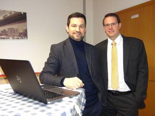 Als ASFiNAG Referenten informierten Bauabteilungsleiter Franz Fegelim (l.) und Projektleiter Manfred Pech.