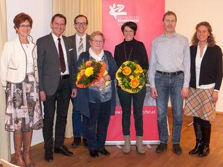 Martina Koidl (Referentin), Bgm. Paul Sieberer, Andreas Weiß, Gerda Salcher, Maria Erharter, Alois Leithner und Kerstin Planer (v. li.).