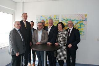 Bildungsminister Heinz Faßmann und Vertreter der ÖVP besuchten das Pinkafelder Unternehmen rmDATA.