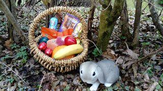 """Ich wünsche euch allen """"Frohe Ostern"""" und eine gute gute Osterjause."""