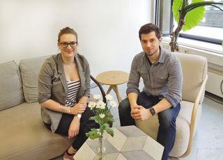 Regionalis-Gründer Peter Patak und Bloggerin Hannah Poppenwimmer