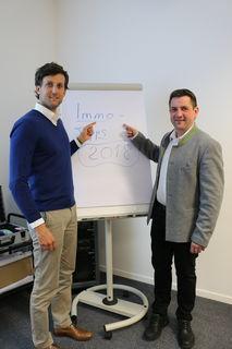 Hans Maurer und Christoph Illmer gaben in ihrem Fachvortrag Immo-Tipps.