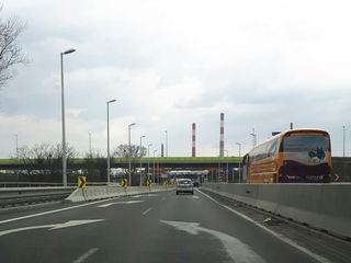 03.04.2018 Fahrt von der Erdberger Lände auf die Ost Autobahn - alte und neue Pfeile ........ :-)