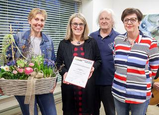 (v.l.n.r.): Susanne Schoder, LR Ulrike Königsberger-Ludwig, Wilfried Leitner u. Roswitha Fröschl.